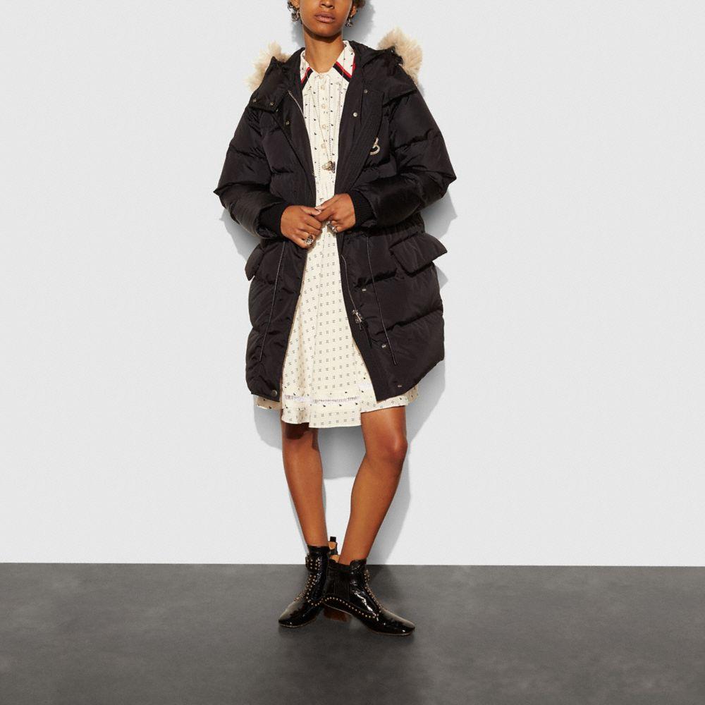 Nylon Puffer Coat - Alternate View A1