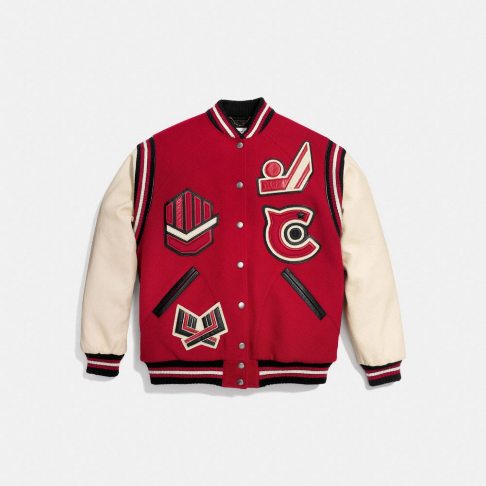 Oversized Varsity Jacket - Alternate View A1
