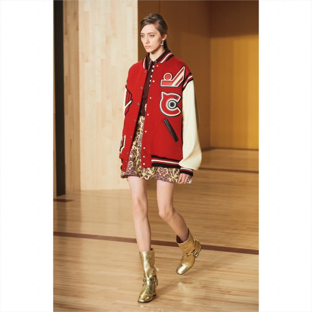 Coach Oversized Varsity Jacket Alternate View 3
