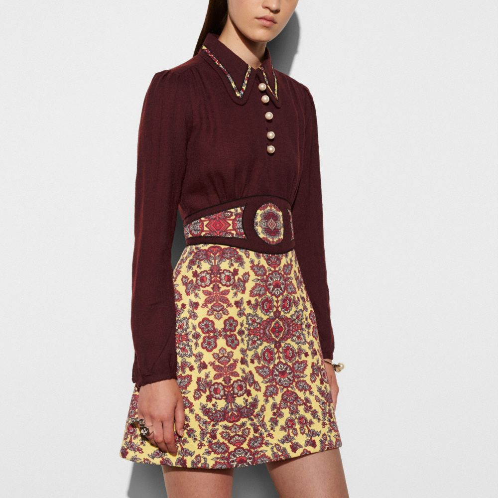 FOREST FLOWER VARSITY DRESS WITH COLLAR - Alternate View M1