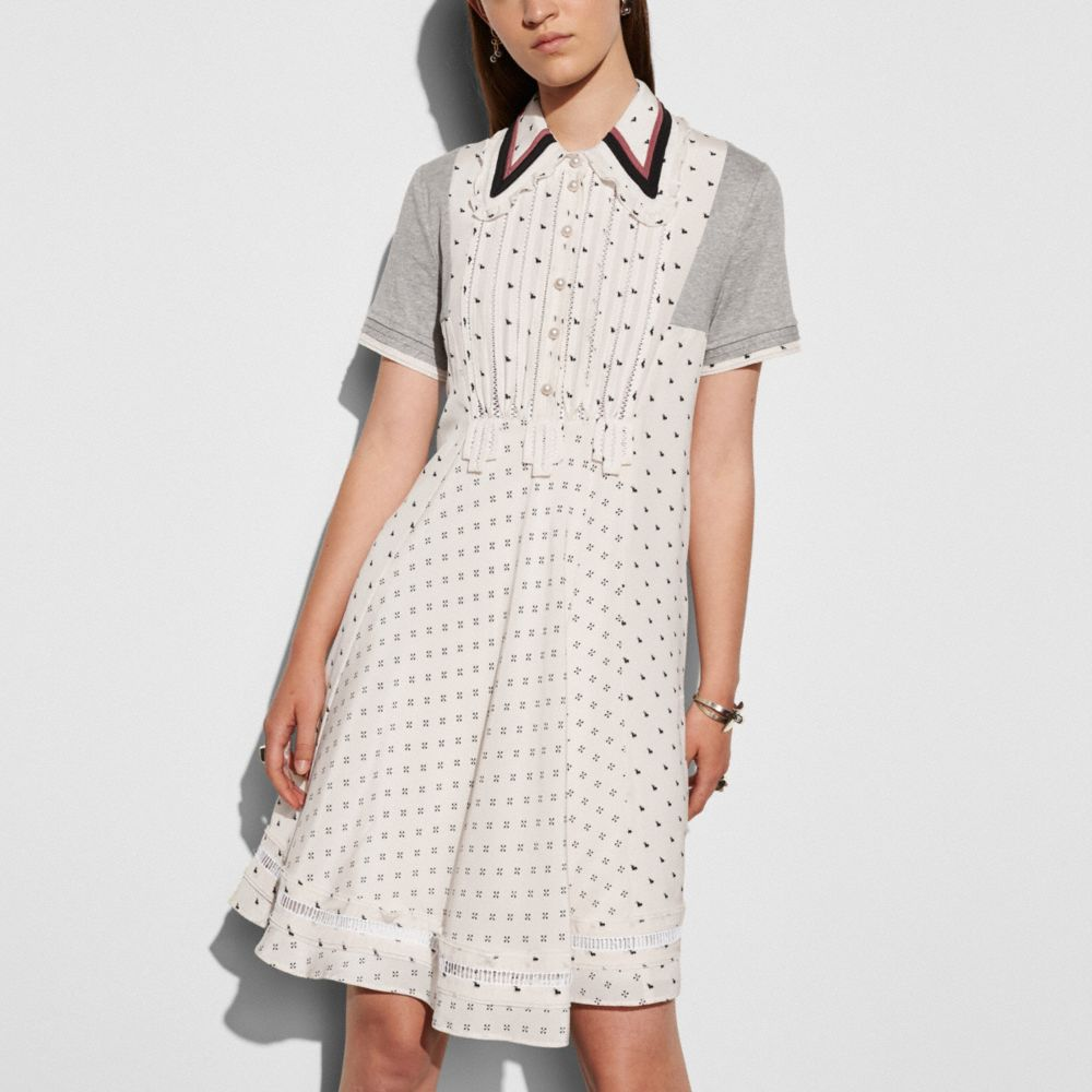 Coach Printed Bib Ribbon Dress Alternate View 2
