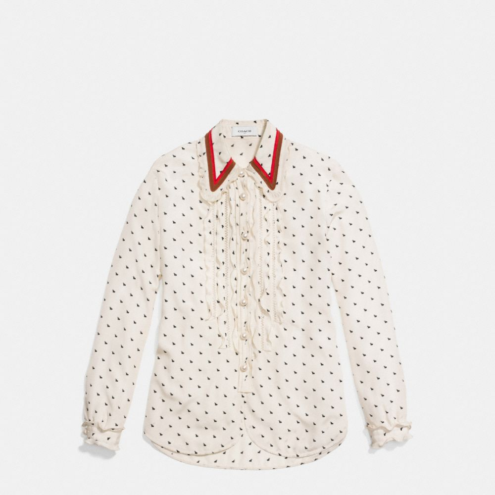 Mini Bunny Print Shirt With Ruffle  - Alternar vistas A1