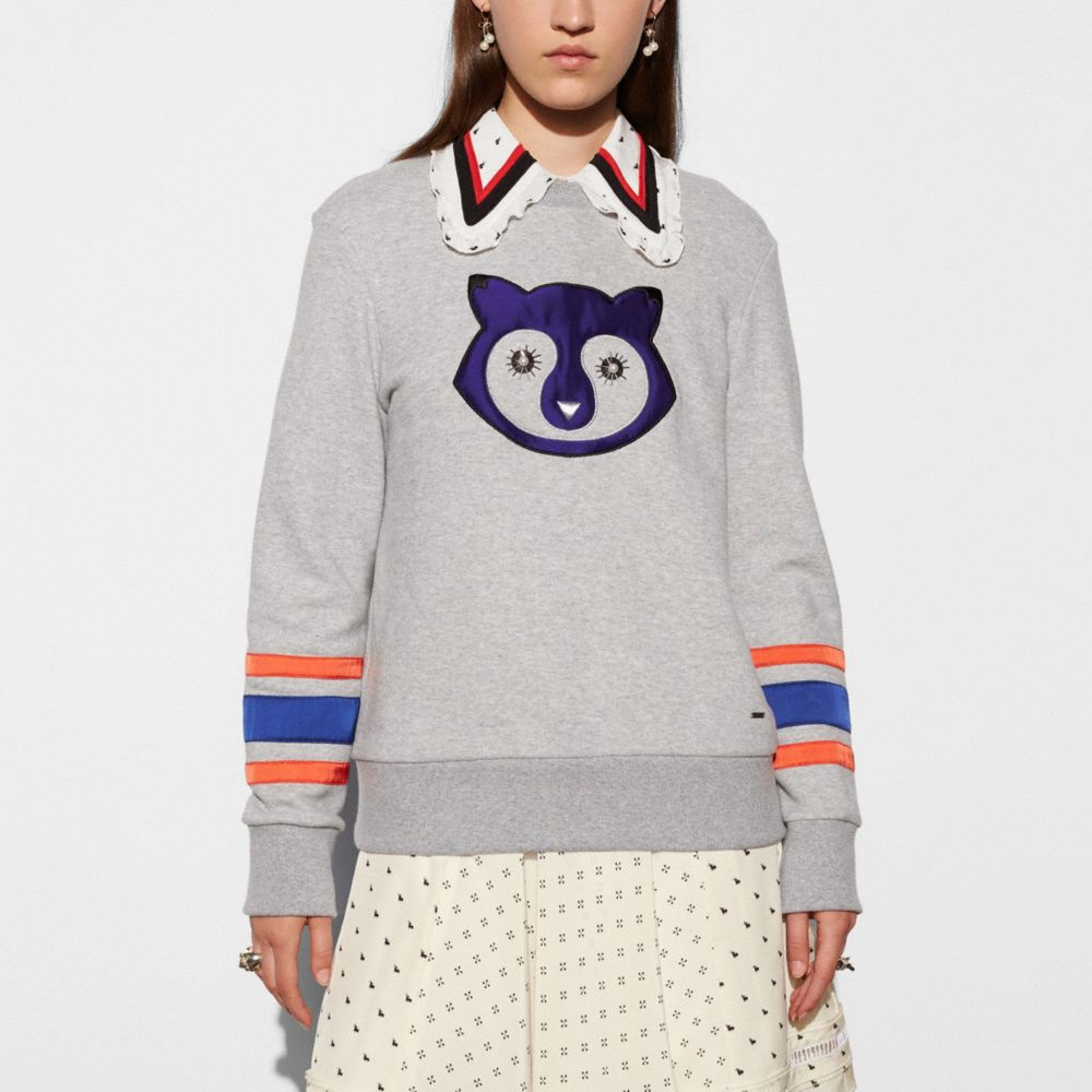 Embellished Raccoon Sweatshirt