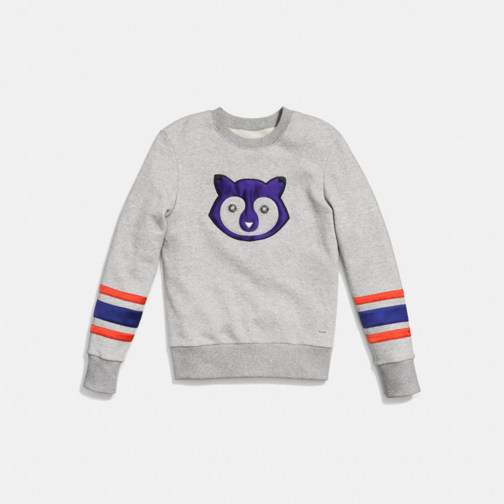 EMBELLISHED RACCOON SWEATSHIRT - Alternate View