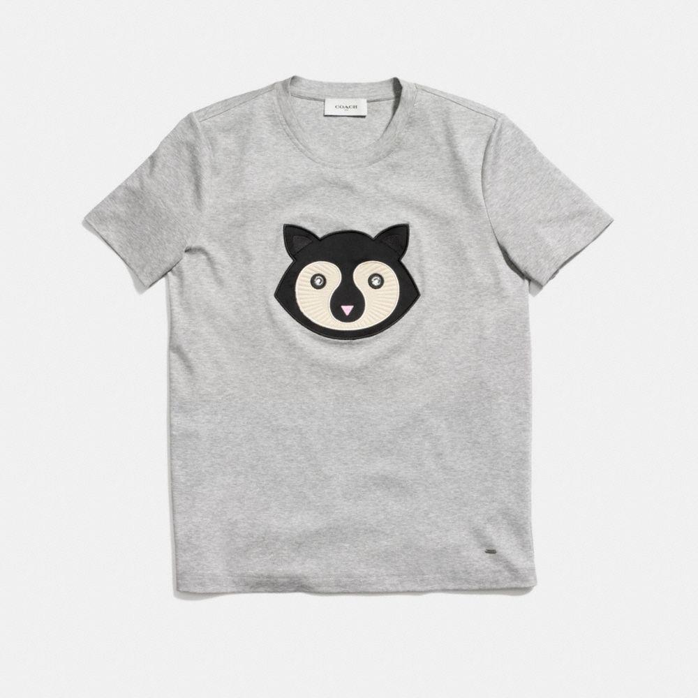 Embellished Patch Raccoon T-Shirt  - Alternar vistas A1
