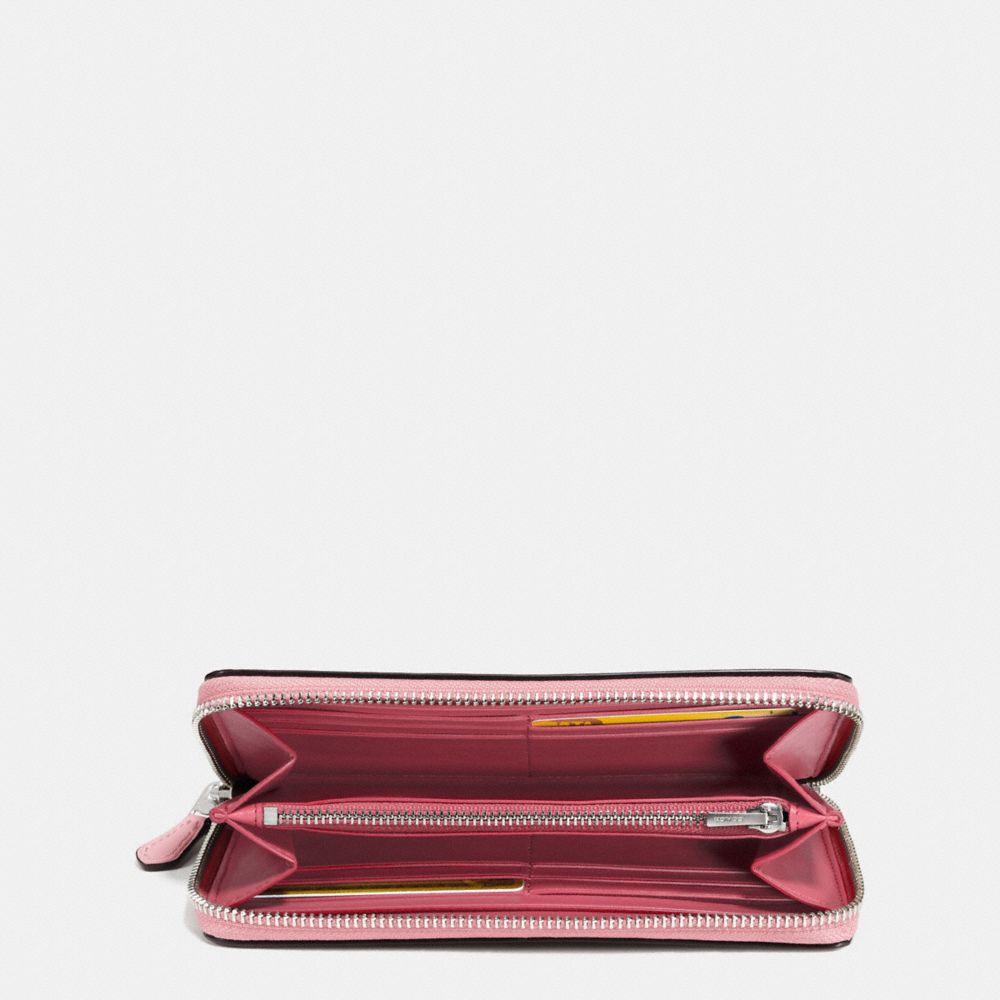 Coach Accordion Zip Wallet in Glovetanned Leather With Western Rivets Alternate View 1
