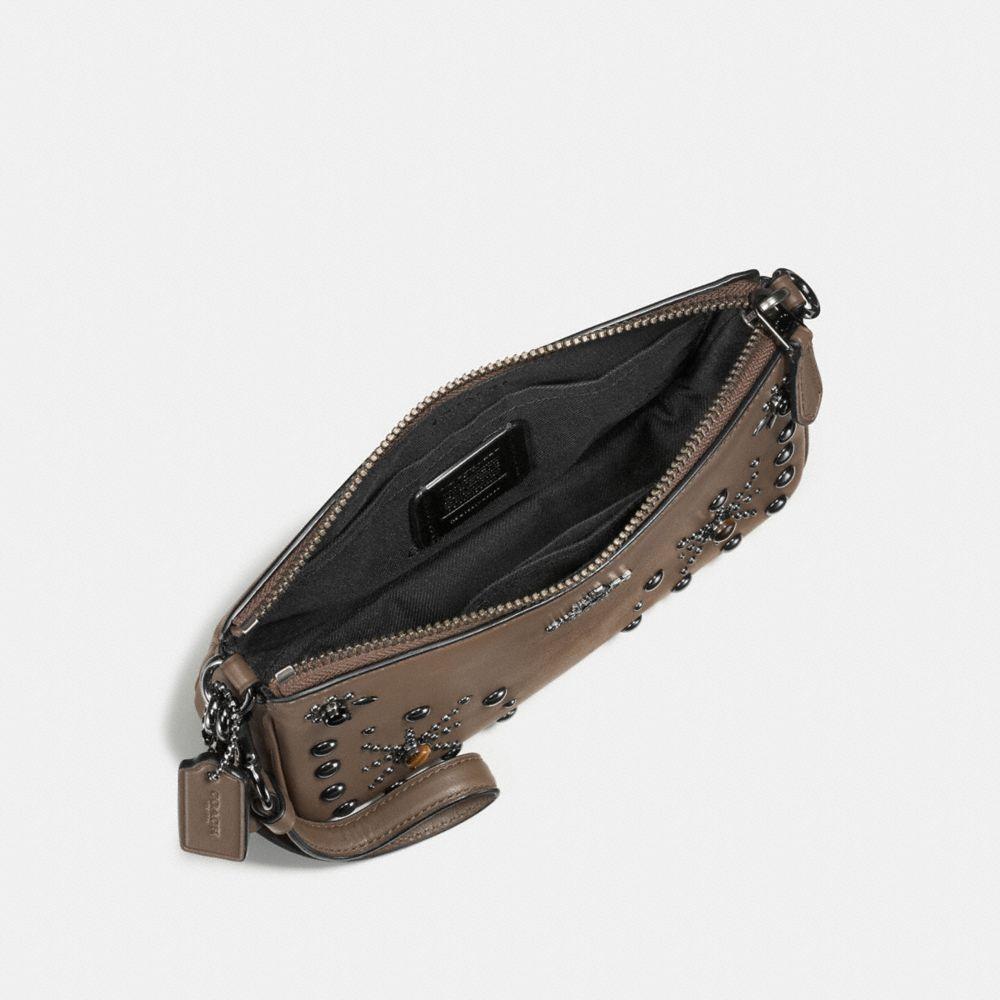 Western Rivets Nolita Wristlet 19 in Glovetanned Leather - Alternate View A1