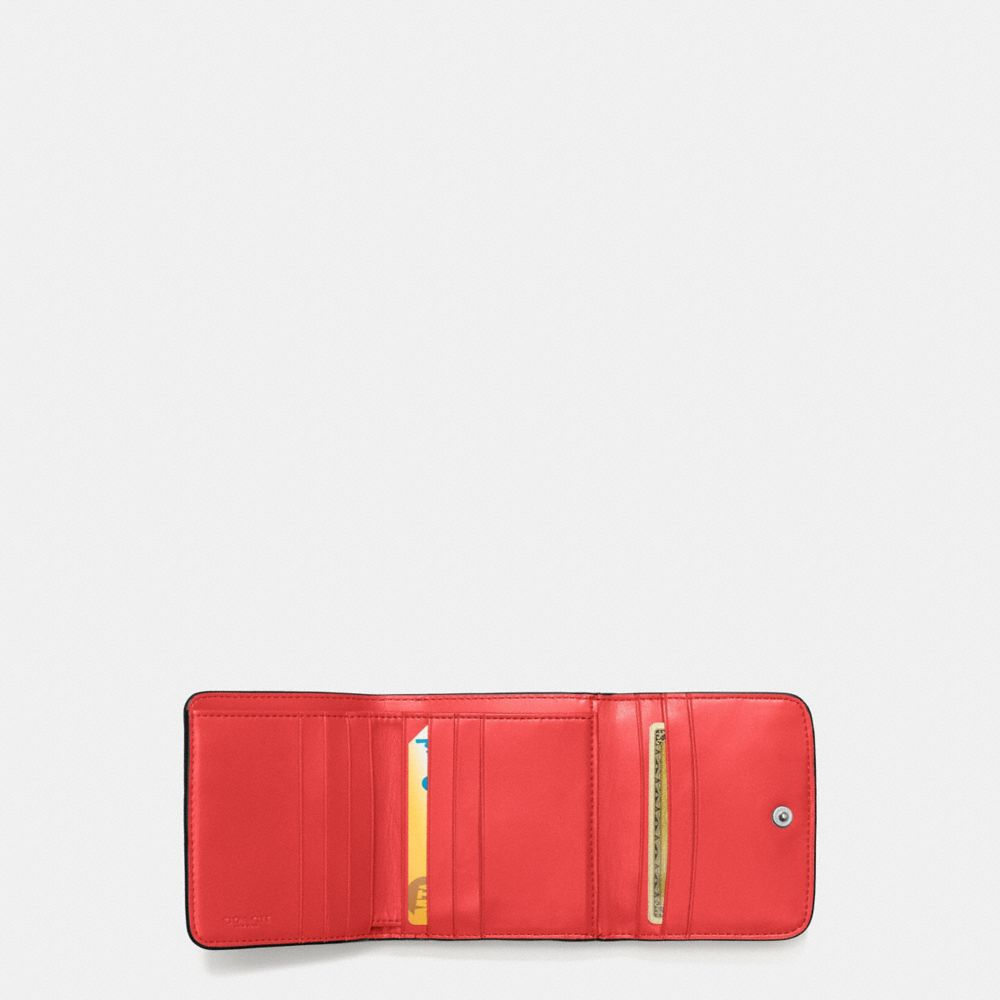 Coach Small Wallet in Polished Pebble Leather With Ombre Rivets Alternate View 1
