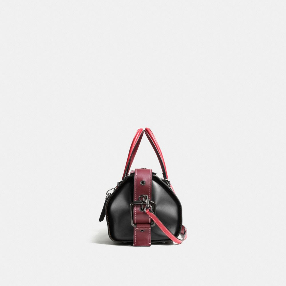 Badlands Satchel in Colorblock Leather - Alternate View A1