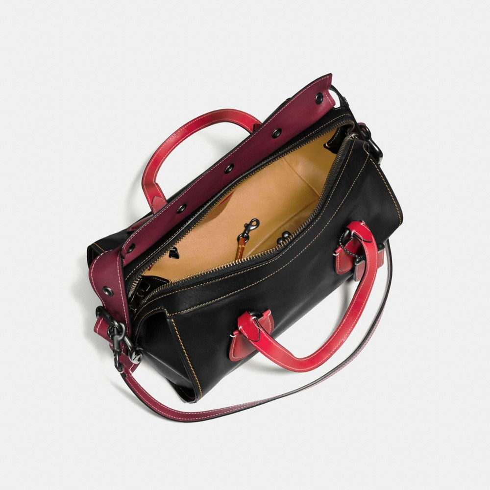 Badlands Satchel in Colorblock Leather - Alternate View A2