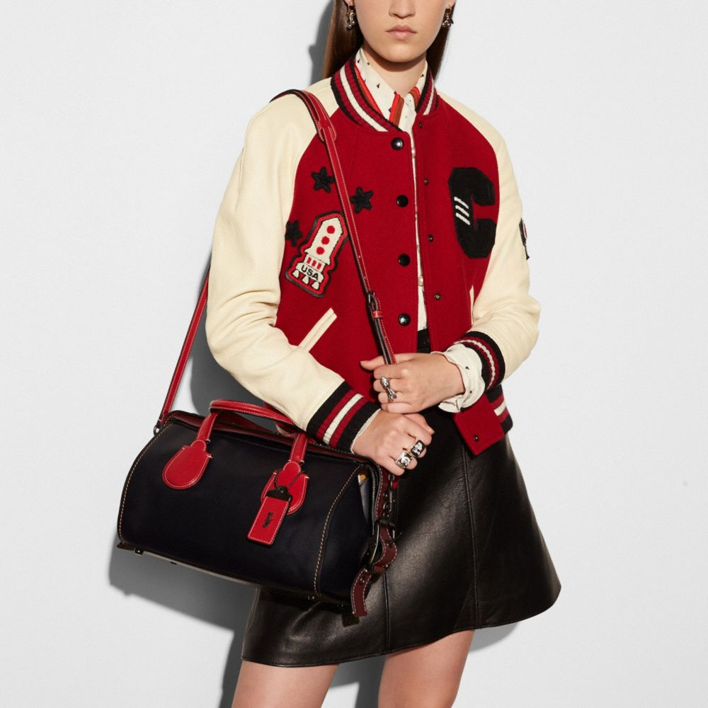 Coach Badlands Satchel in Colorblock Leather Alternate View 3