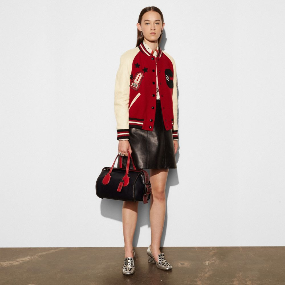 Coach Badlands Satchel in Colorblock Leather Alternate View 4