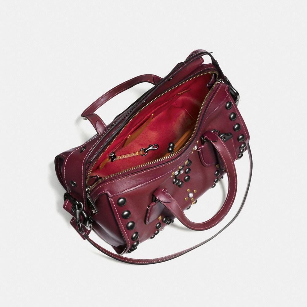 Western Rivets Badlands Satchel in Glovetanned Leather - Alternate View A2