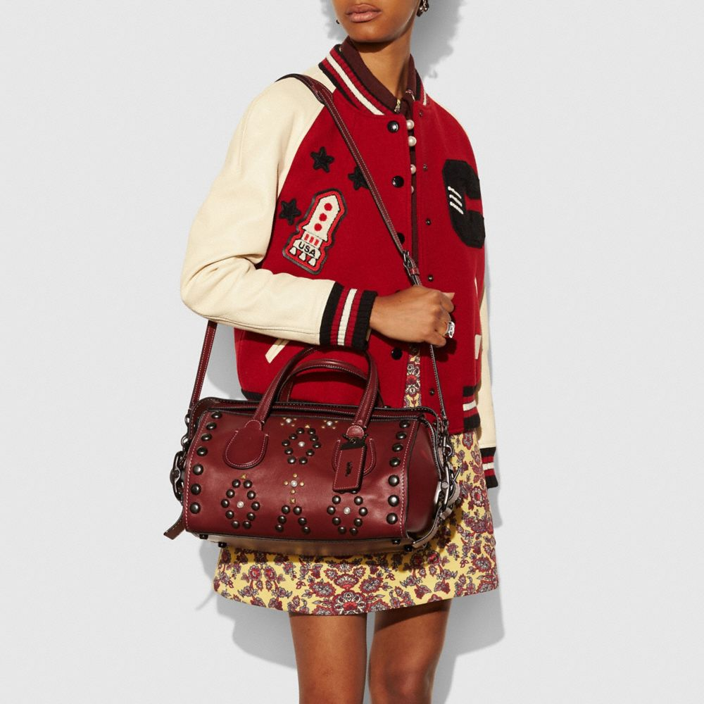 Coach Badlands Satchel With Western Rivets Alternate View 3