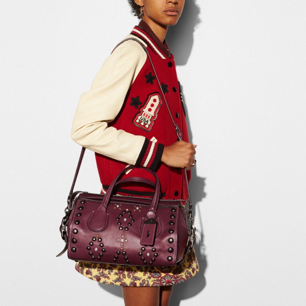 Coach Badlands Satchel With Western Rivets Alternate View 4