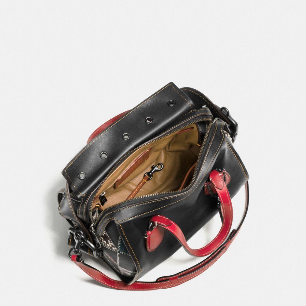 Badlands Satchel 25 in B-Boy Prairie Patchwork Leather - Alternate View A2