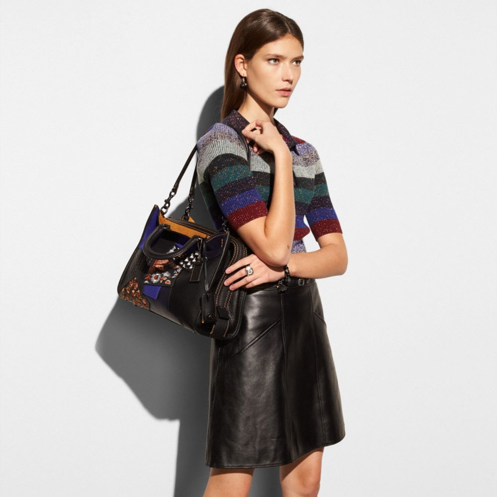 ROGUE BAG IN EMBELLISHED PATCHWORK LEATHER - Alternate View