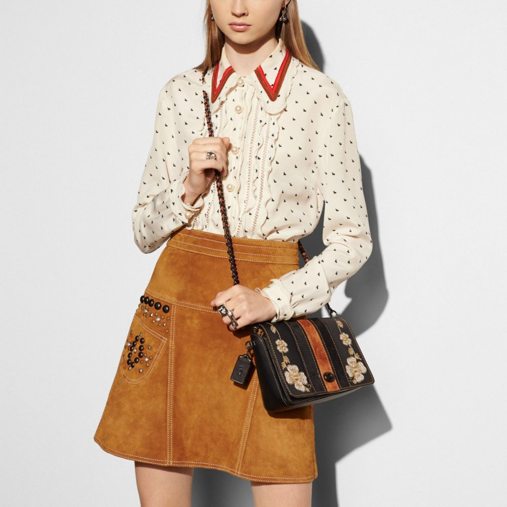WESTERN EMBROIDERY DINKY CROSSBODY 24 IN GLOVETANNED LEATHER - Alternate View A3