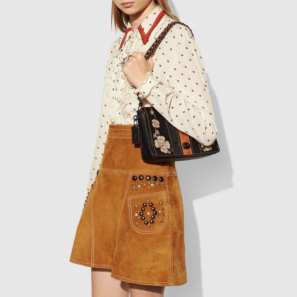 Western Embroidery Dinky Crossbody 24 in Glovetanned Leather - Alternate View A4