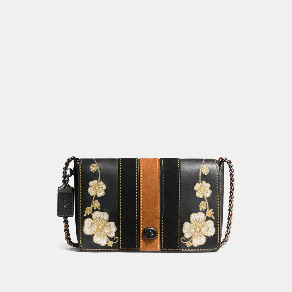 WESTERN EMBROIDERY DINKY CROSSBODY 24 IN GLOVETANNED LEATHER - Alternate View