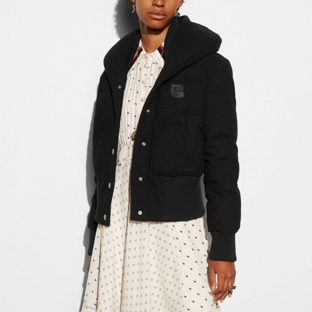 Wool Short Puffer