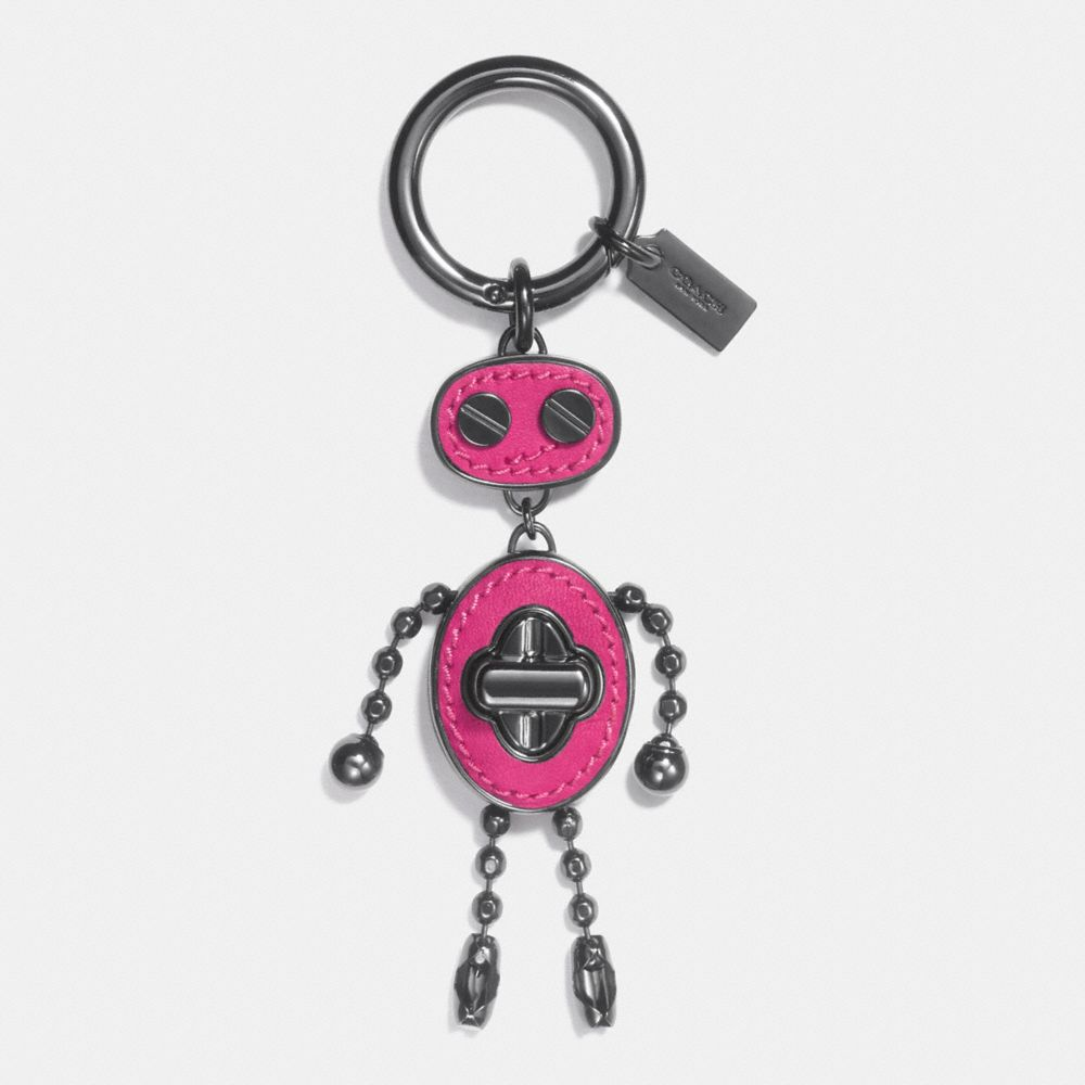 Coach Leather Inlay Robot Bag Charm