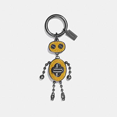 レザー インレイ ロボット バッグ チャーム