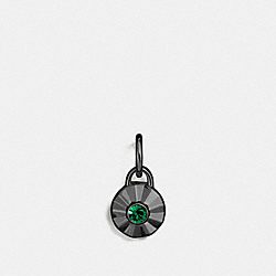 DAISY RIVET BIRTHSTONE CHARM - EMERALD/BLACK - COACH 56791