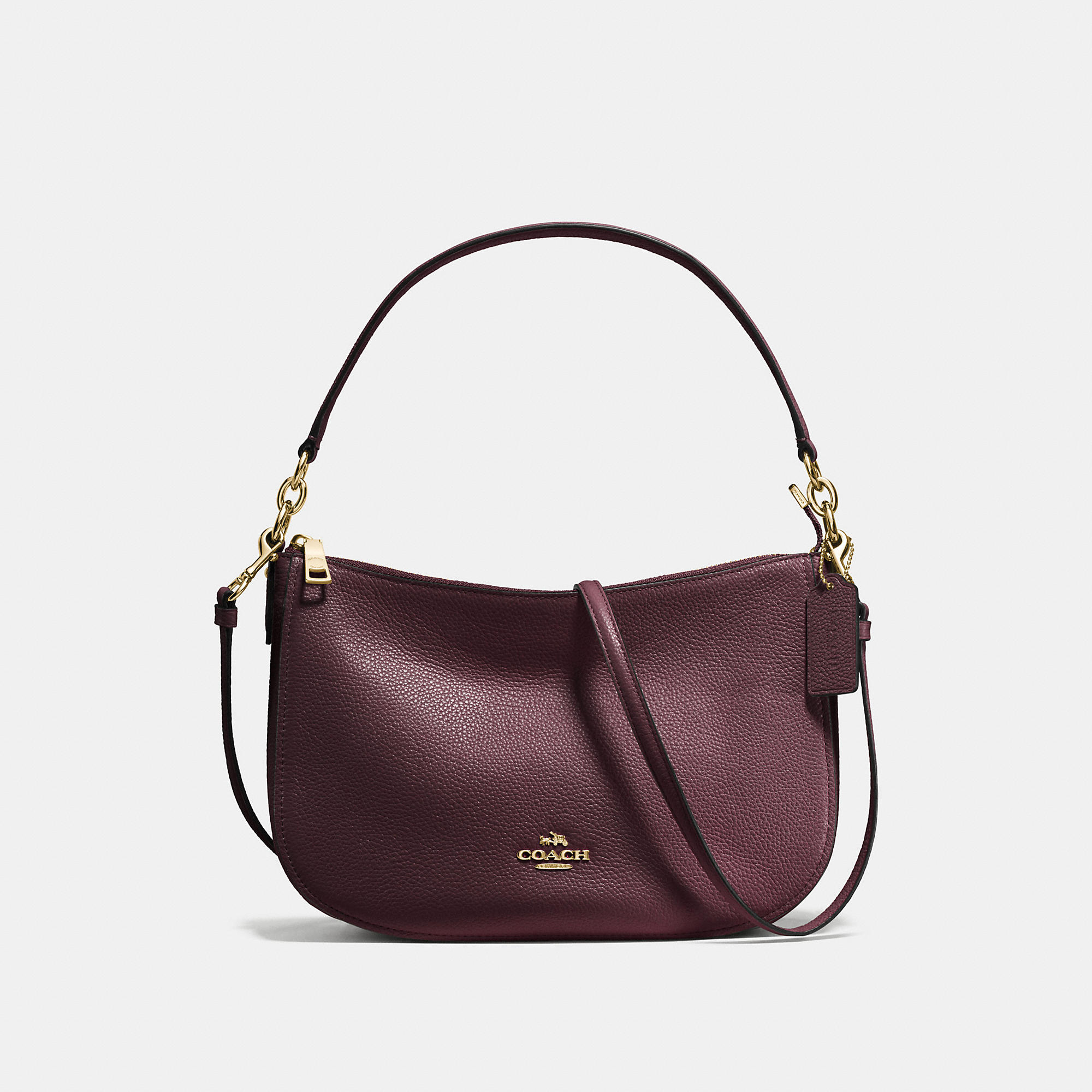 Coach Chelsea Crossbody In Polished Pebble Leather