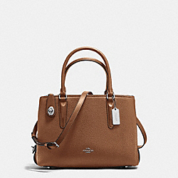 BROOKLYN CARRYALL 28 - SILVER/SADDLE - COACH 56839
