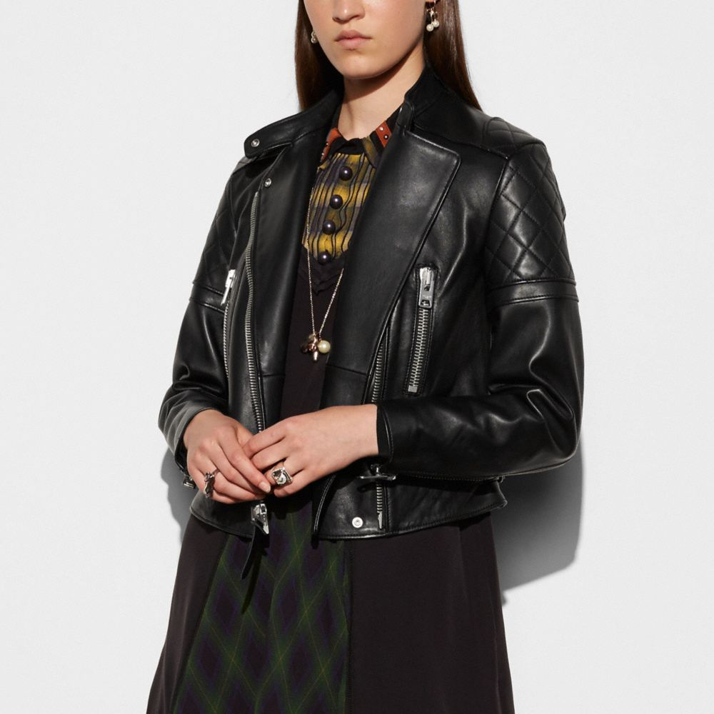 ICON LEATHER BIKER JACKET - Alternate View