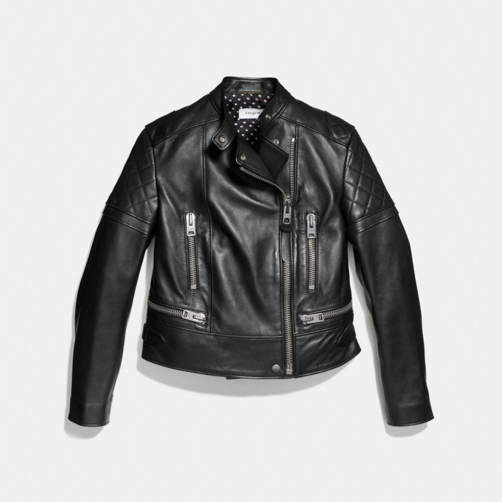 ICON LEATHER BIKER JACKET - Alternate View A1
