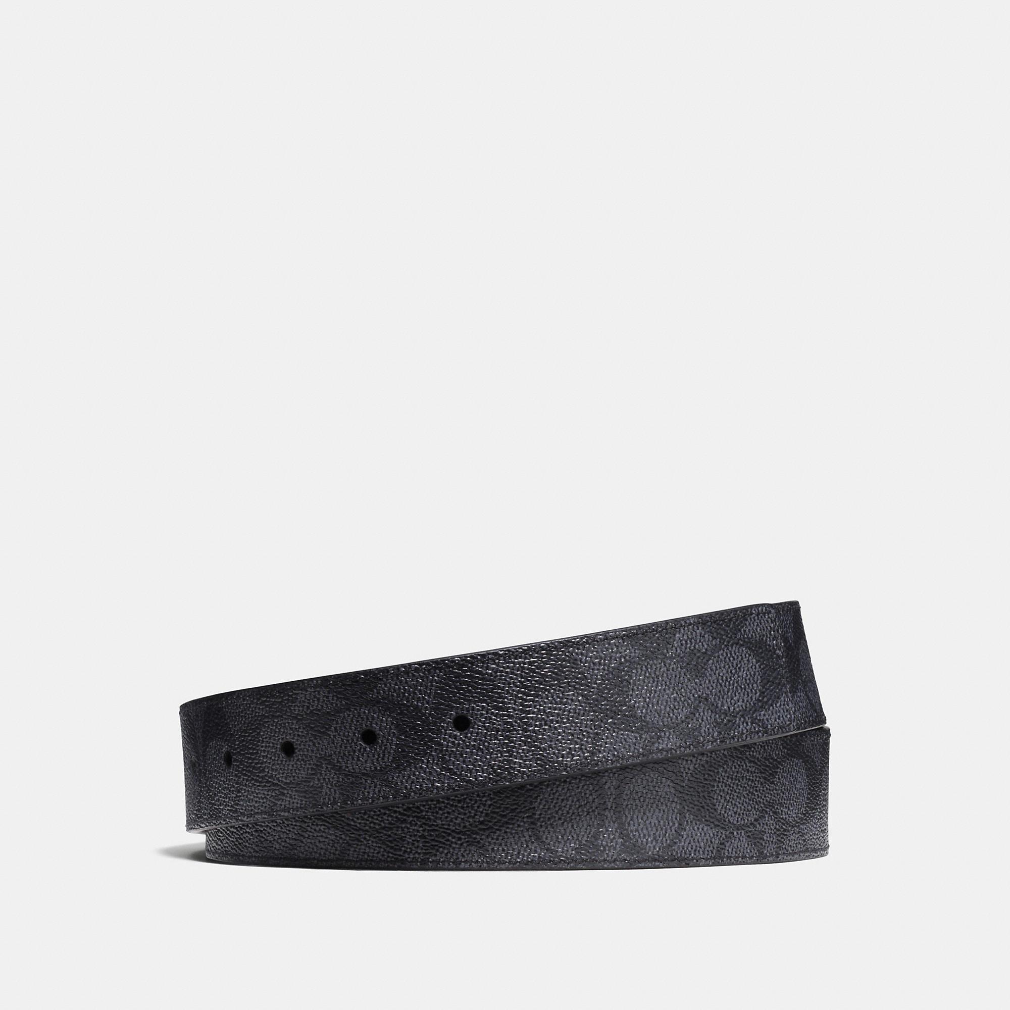 Coach Signature Coated Canvas Reversible Belt Strap