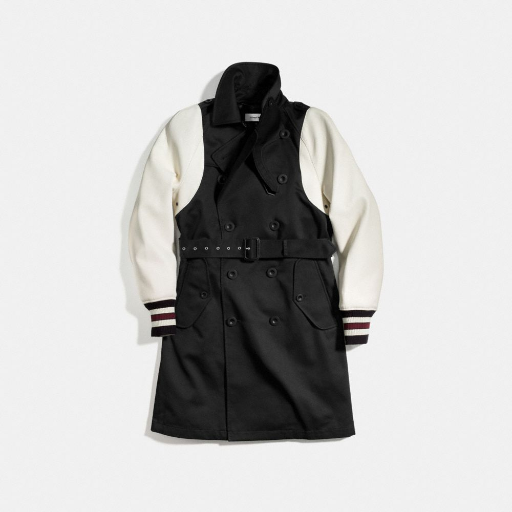 Varsity Trench Jacket - Alternate View A1