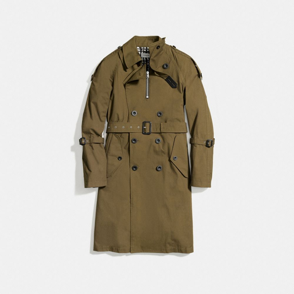 Coach Strapped Raincoat Alternate View 1