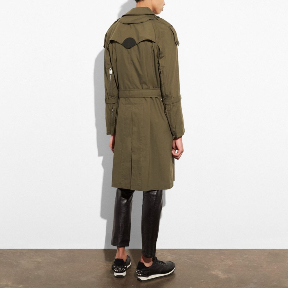 Coach Strapped Raincoat Alternate View 2