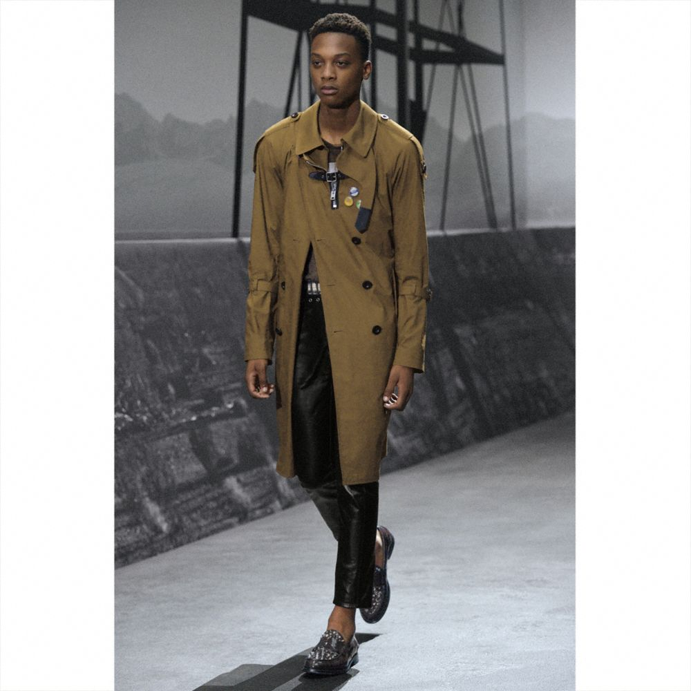 Coach Strapped Raincoat Alternate View 4