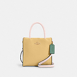 MINI CALLY CROSSBODY IN COLORBLOCK - IM/VANILLA CREAM MULTI - COACH 5691