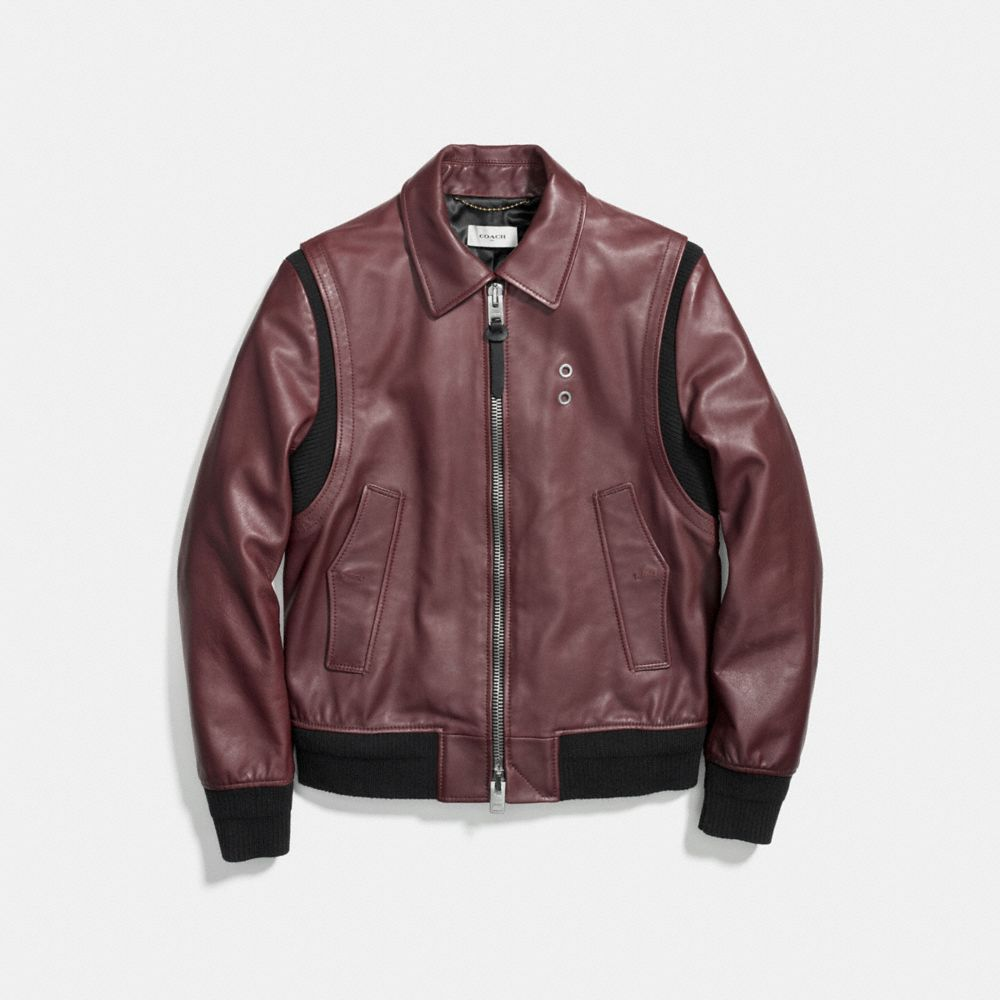 Zip Front Bomber Jacket - Alternate View A2