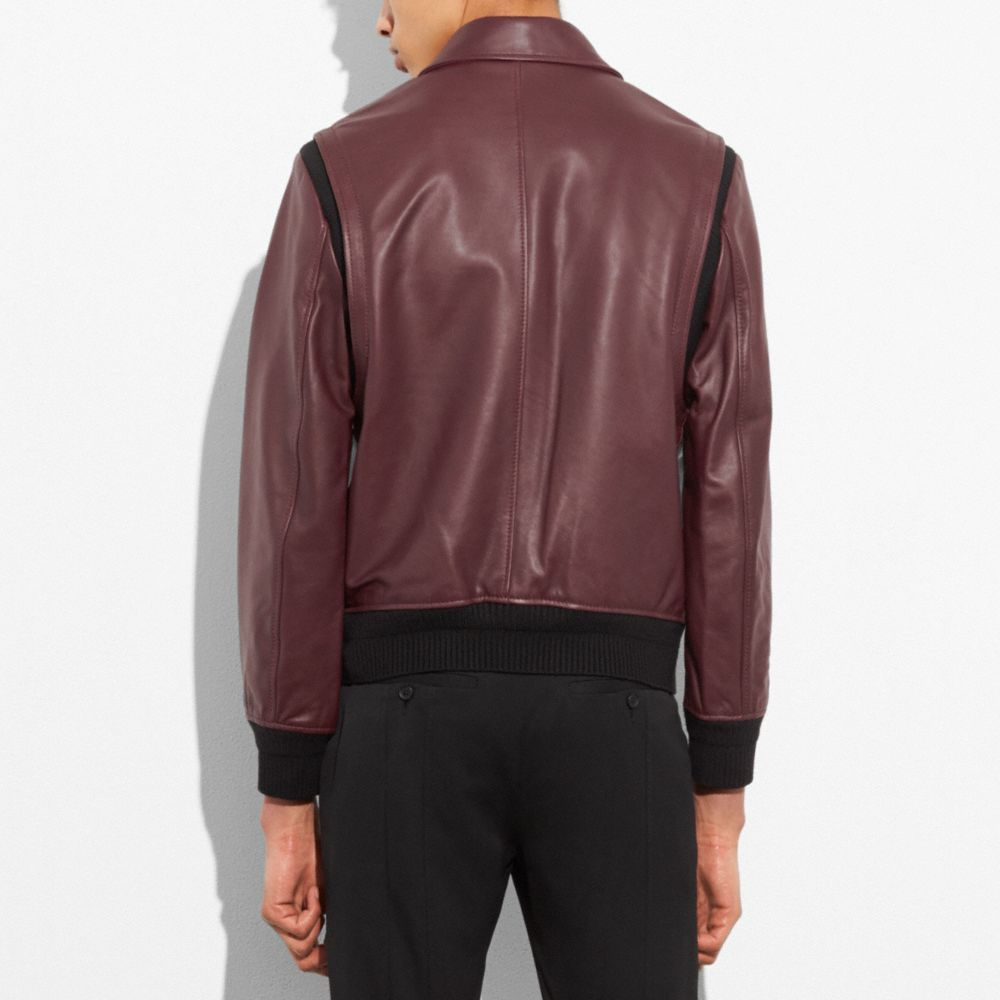 Zip Front Bomber Jacket - Alternate View M1