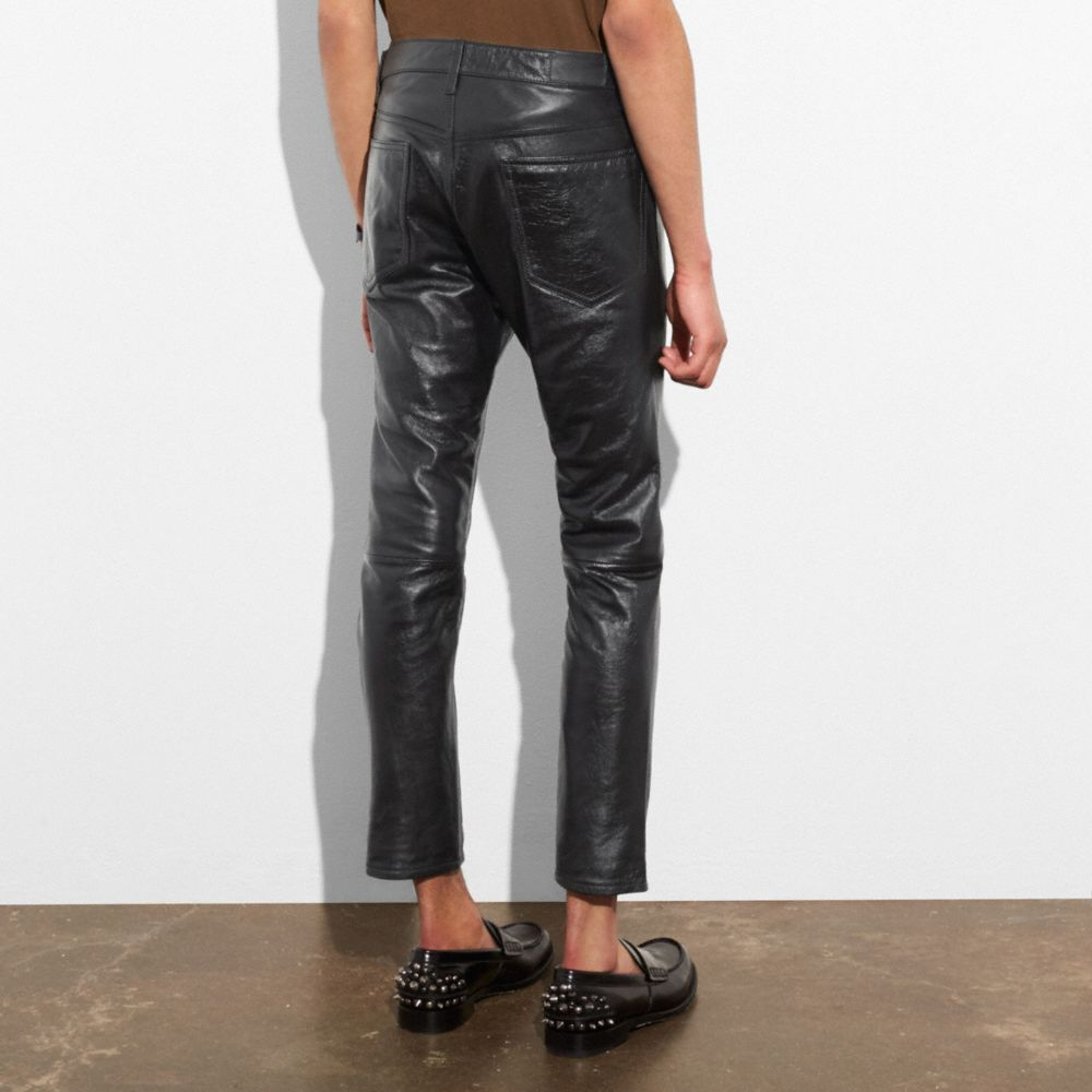 Leather Jeans - Alternate View M1
