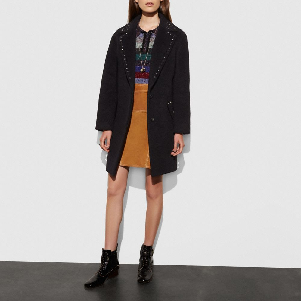 Studded Wool Coat