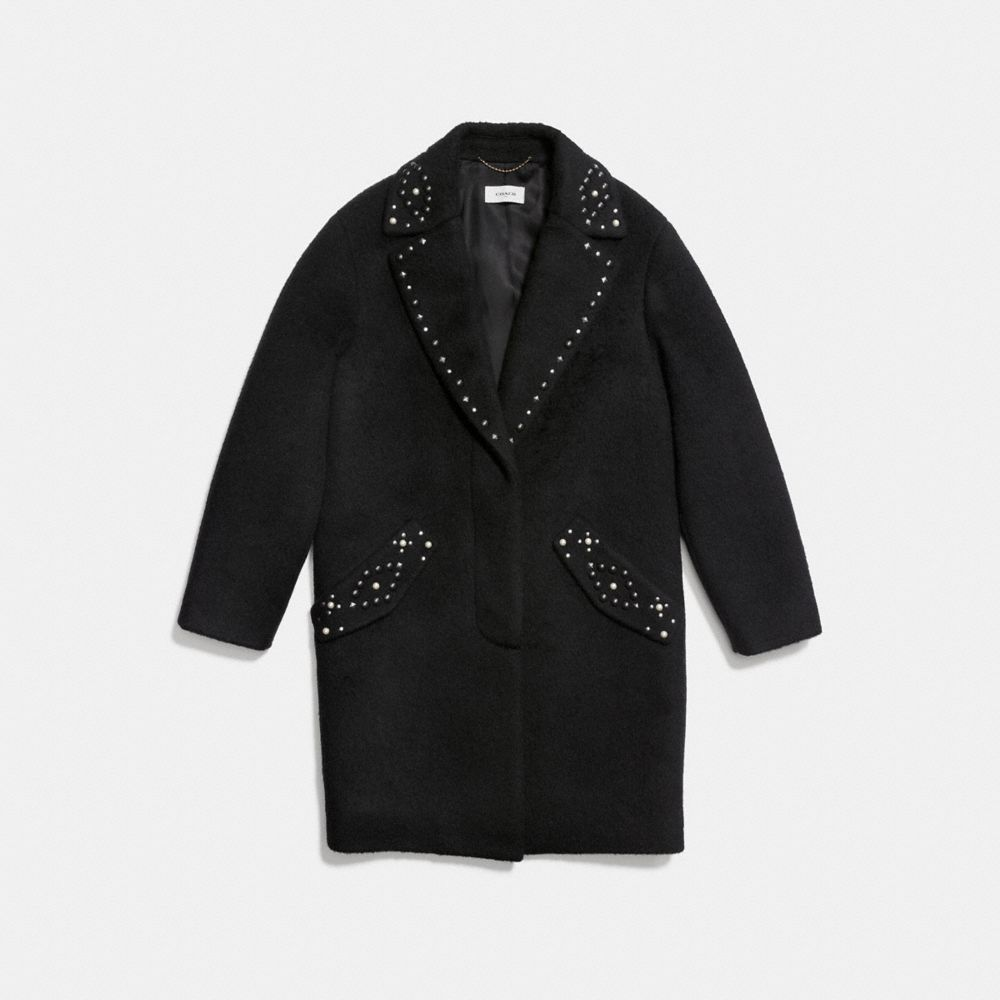 Studded Wool Coat - Alternate View A1