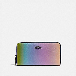ACCORDION ZIP WALLET WITH OMBRE - MULTICOLOR/GUNMETAL - COACH 57092