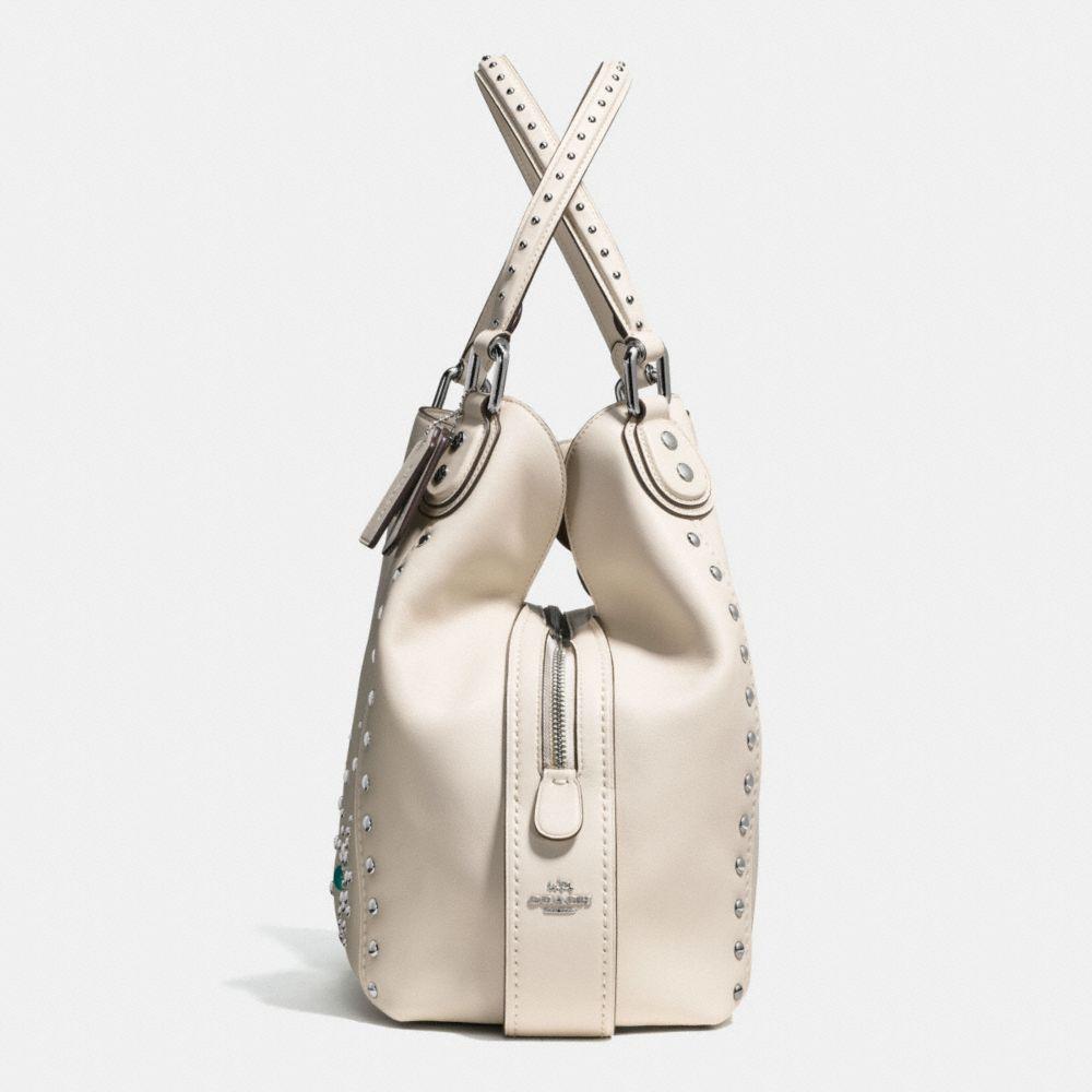 Western Rivets Edie Shoulder Bag 42 in Glovetanned Leather - Alternate View A1