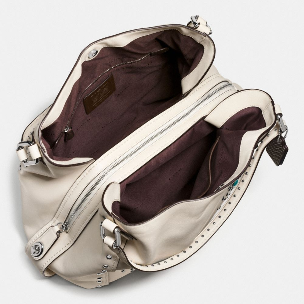 Western Rivets Edie Shoulder Bag 42 in Glovetanned Leather - Alternate View A2