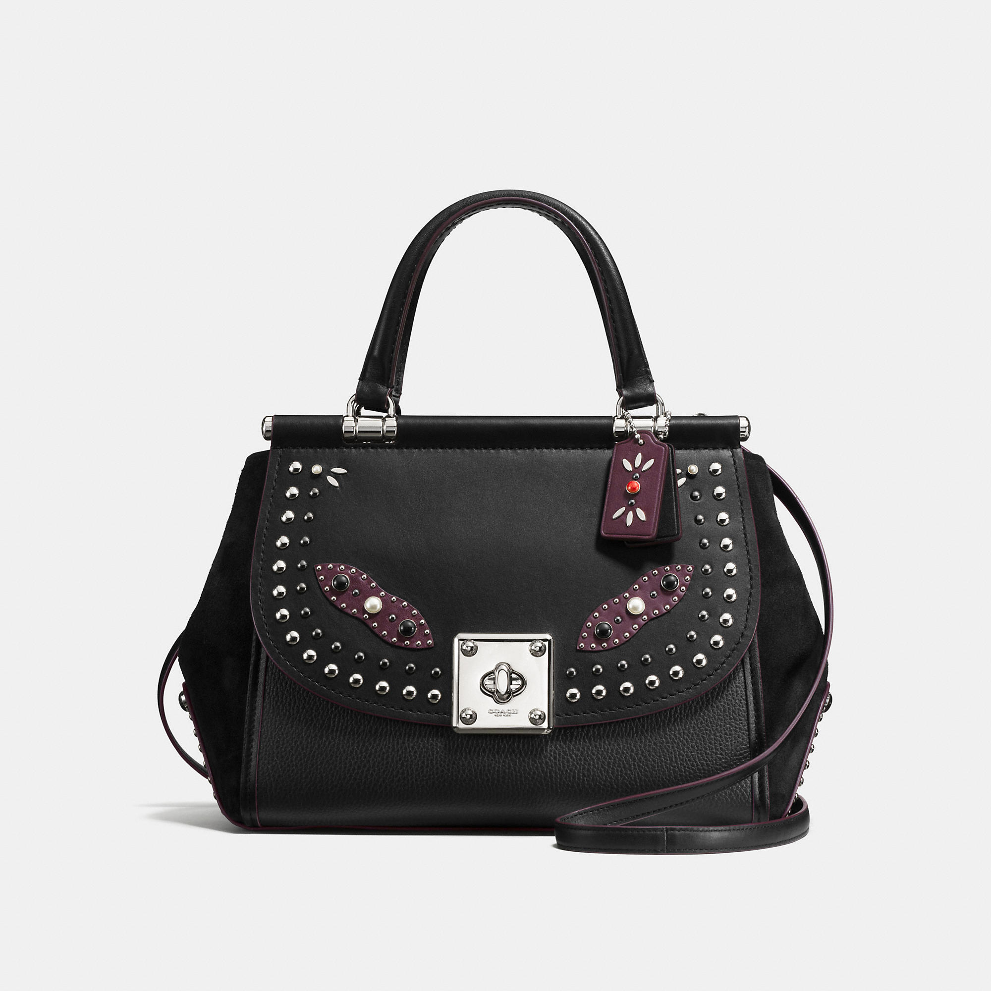Coach Western Rivets Drifter Carryall In Glovetanned Leather