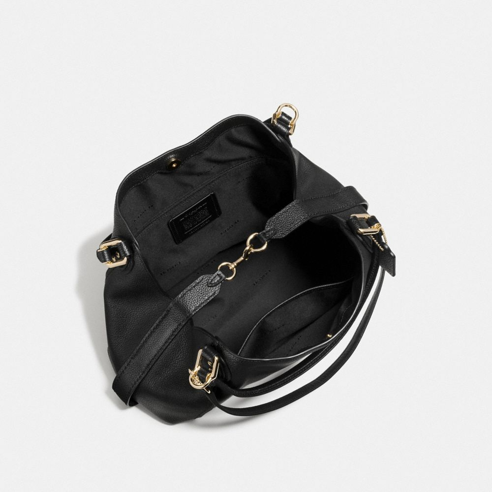 Edie Shoulder Bag 28 in Polished Pebble Leather - Alternate View A2