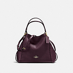 EDIE SHOULDER BAG 28 - LI/OXBLOOD - COACH 57124