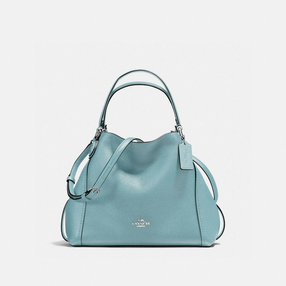 Edie Shoulder Bag 28 in Polished Pebble Leather